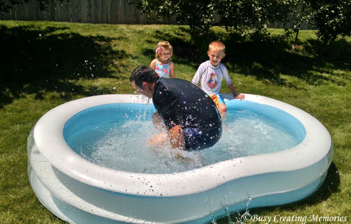 Good old fashioned kiddie pool shenanigans