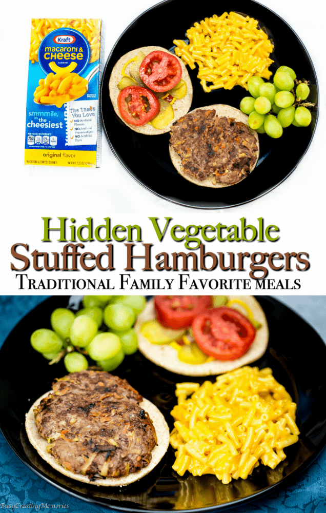 Hidden Vegetable Stuffed Hamburgers Family Traditional Favorites