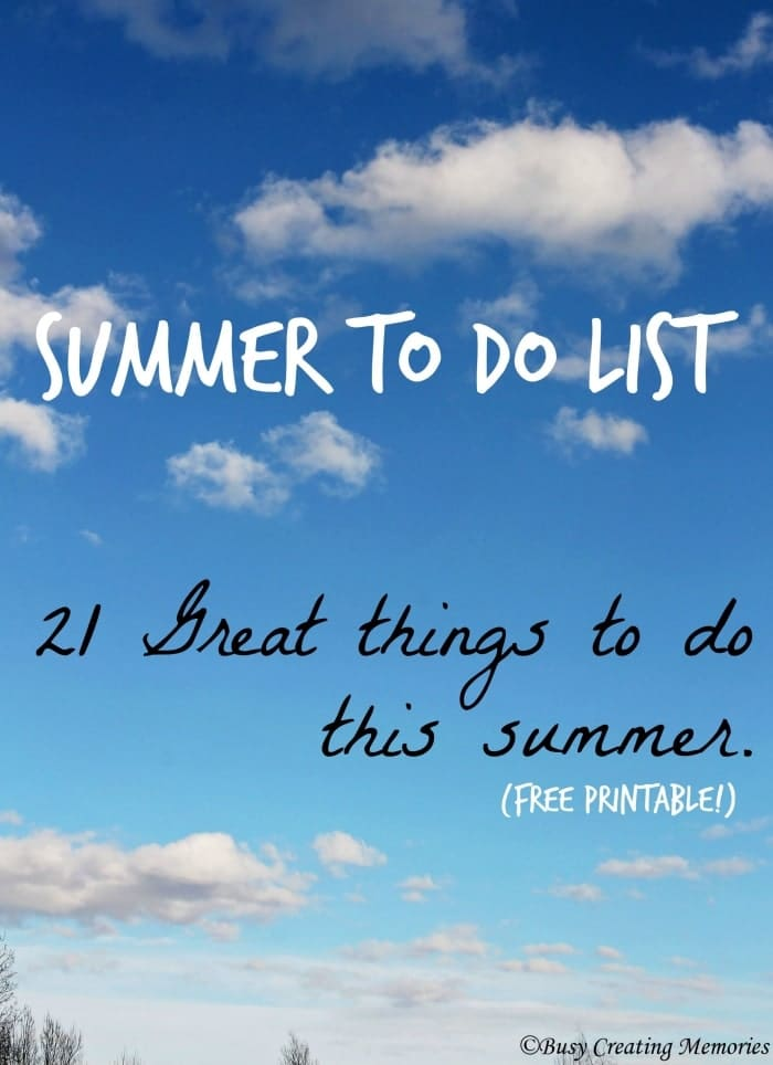 Looking for great things to do this summer - check out the Summer To Do list!