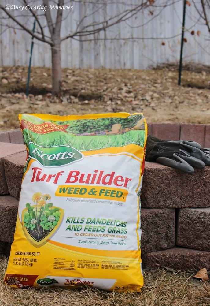 Scotts Turf Builder Weed and Feed is going to get my lawn ready for those cookouts!