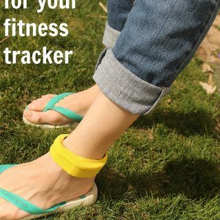 Ankle band for a fitness tracker