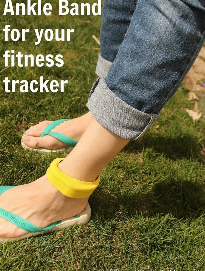 Fitness Tracker Ankle Band – Easy Sew!
