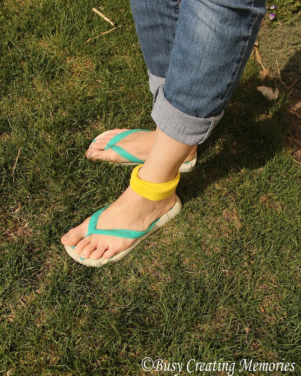 Ankle band for a fitness tracker - easy sew