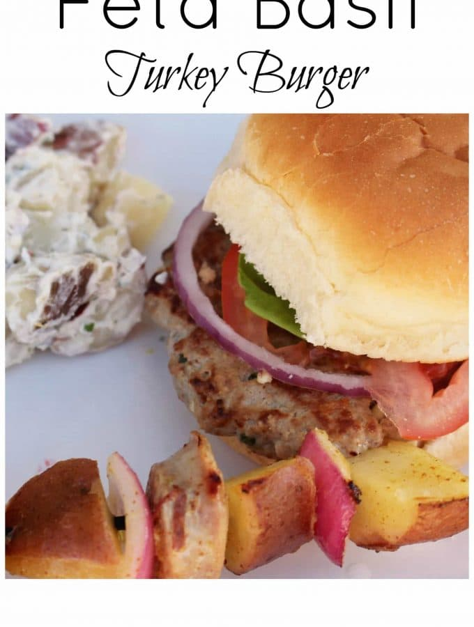 Feta Basil Turkey Burger