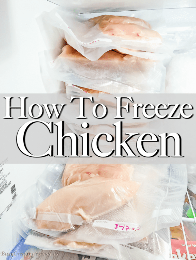 How to Freeze Chicken Breasts