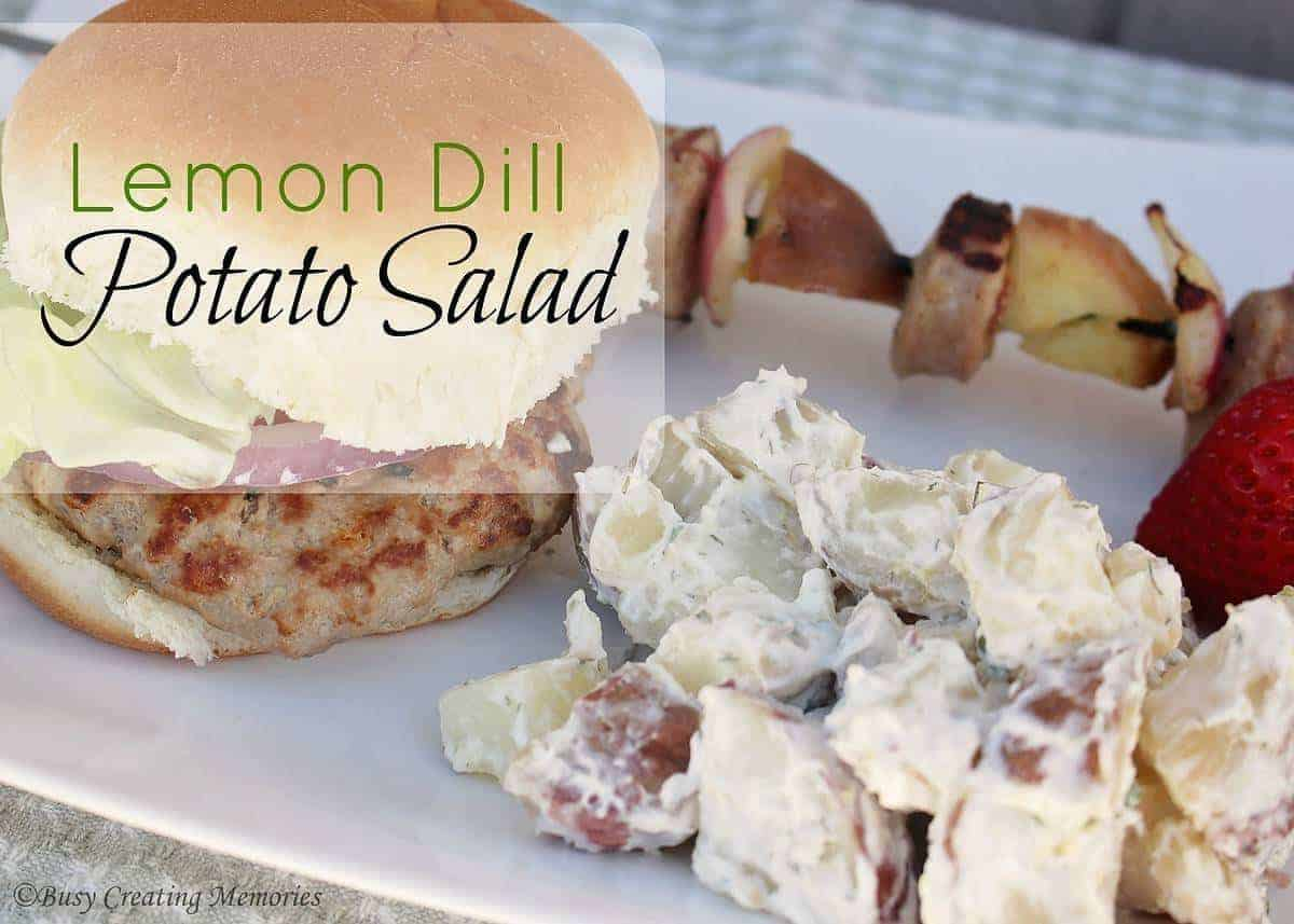 Lemon Dill Potato Salad pairs perfectly at any BBQ!