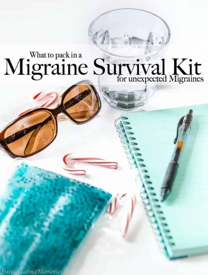 Migraine Survival Kit for those unexpected migraines