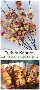 Turkey Kabobs with Brown Mustard Glaze