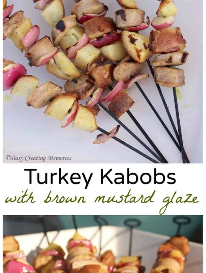 Turkey Kabobs with Brown Mustard Glaze
