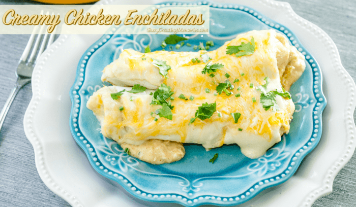 Easy Creamy Chicken Enchiladas Recipe