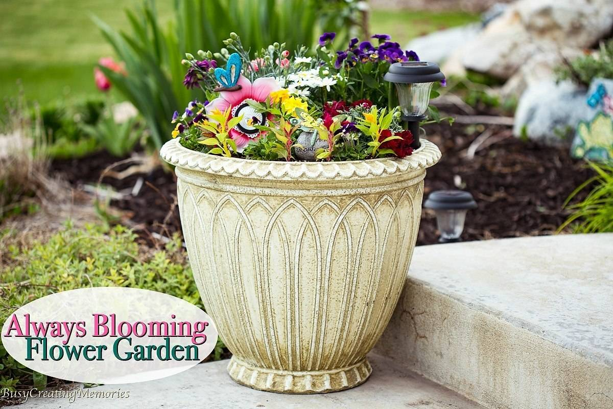 Always Blooming Flower Garden Ideas W Blossoms All Summer Long