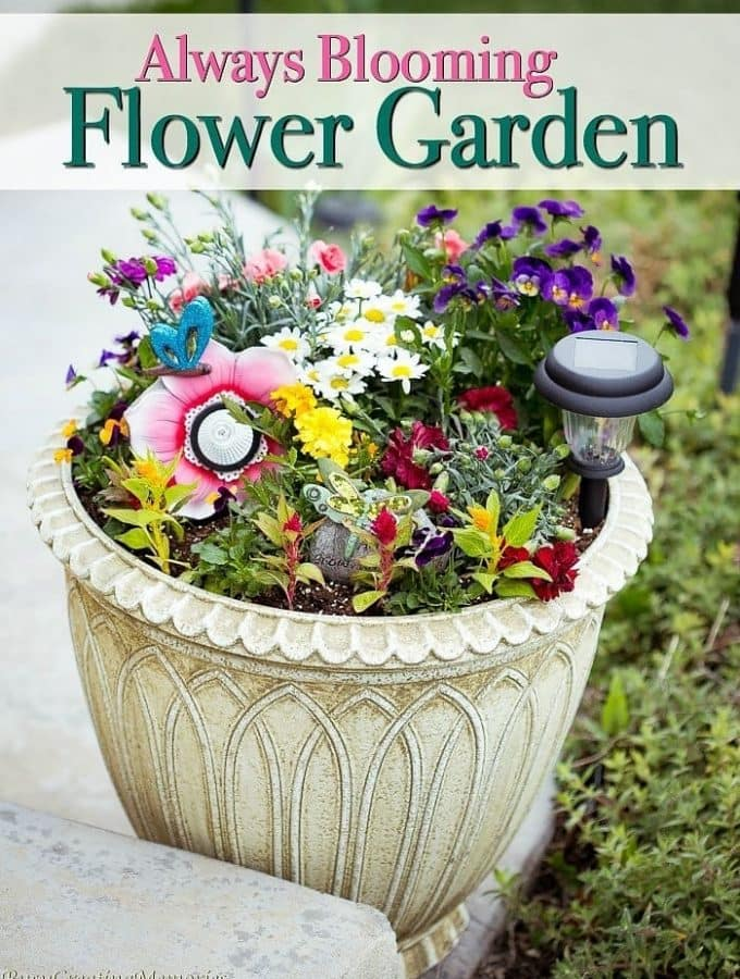 Always Blooming Flower Garden Ideas w/ blossoms all summer long