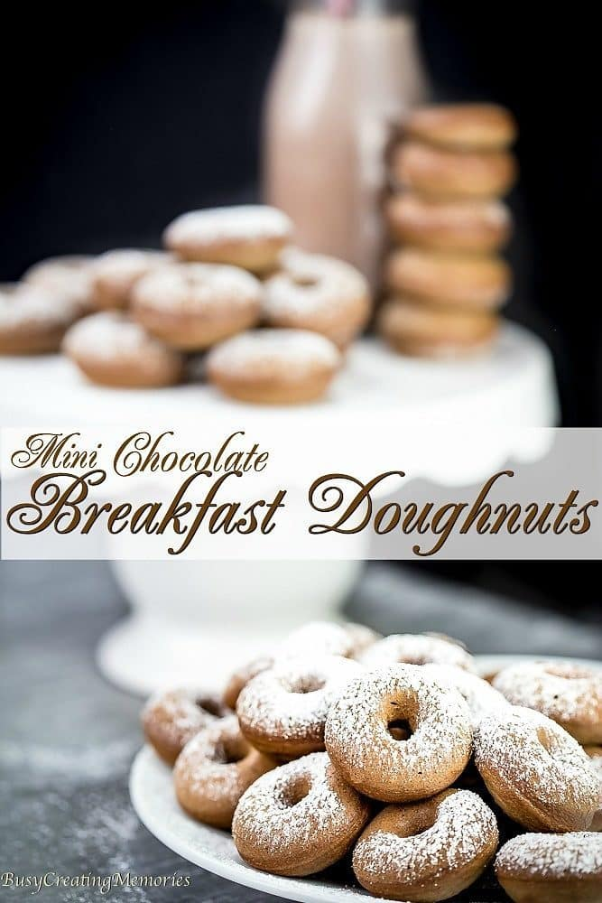 Wouldn't you love Doughnuts for Breakfast? Well, you Can! An Old Fashioned Chocolate Doughnut recipe with reduced sugar and baked! Easy recipe even kids can create!