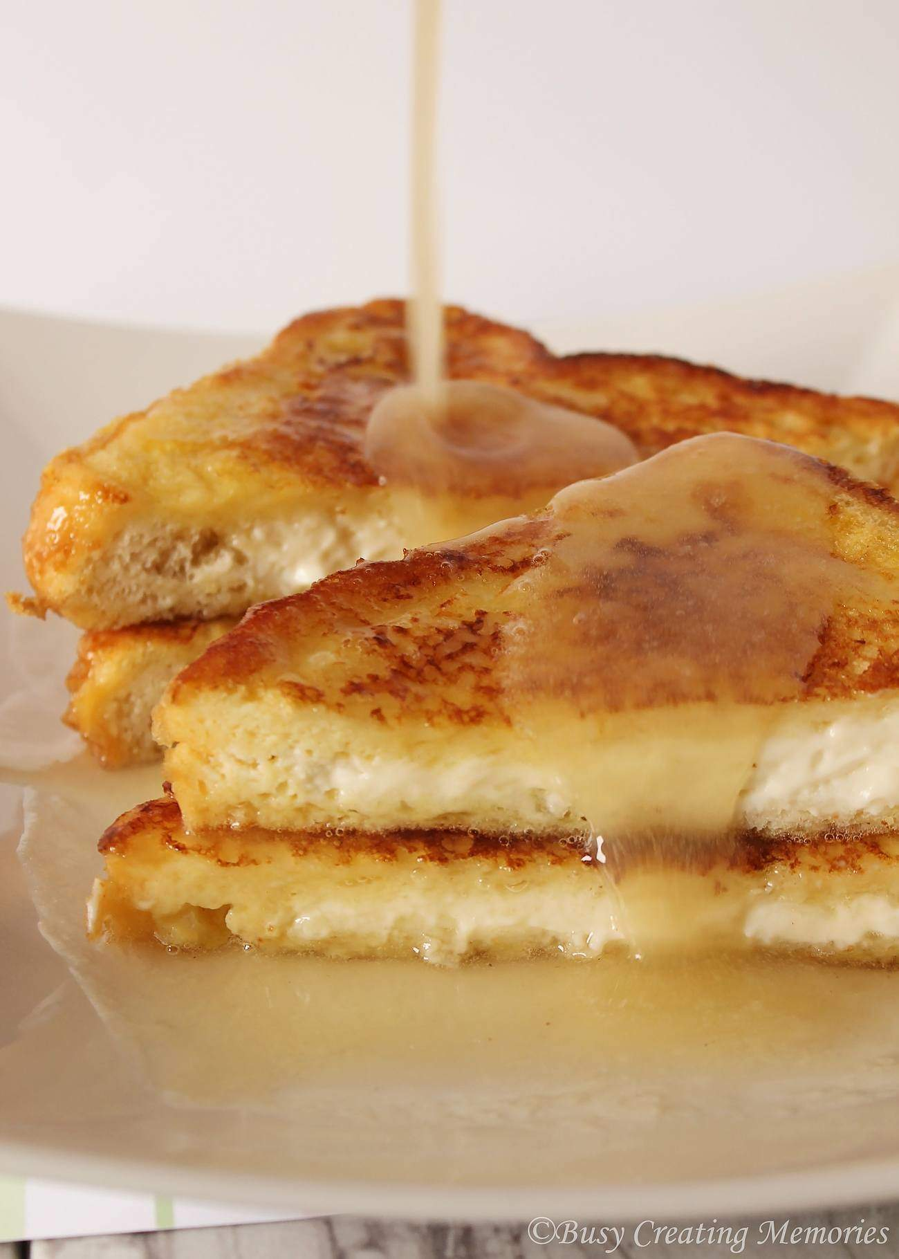 Amazing stuffed French Toast with Buttermilk Syrup