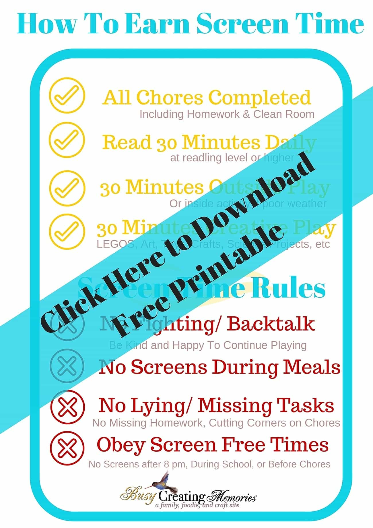 How To Teach Responsible Screen Time Use to Kids + Free Printable