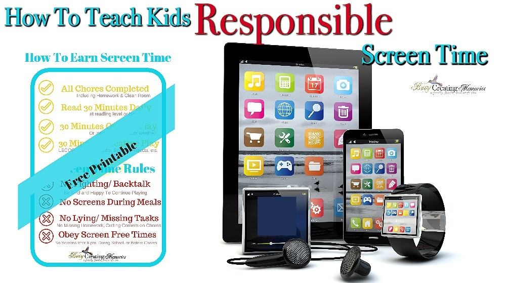 graphic relating to Screen Time Rules Printable titled How In direction of Train Children Dependable Display Year + No cost Printable