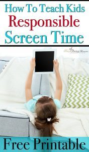 How To Teach Kids Responsible Screen Time + Free Printable