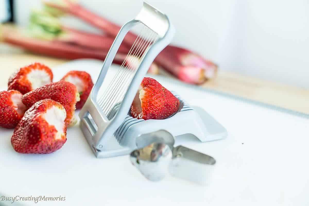 Chocolate Strawberry Rhubarb Dump Cake