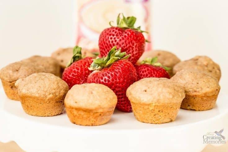 Mini Cinnamon Strawberry Muffins