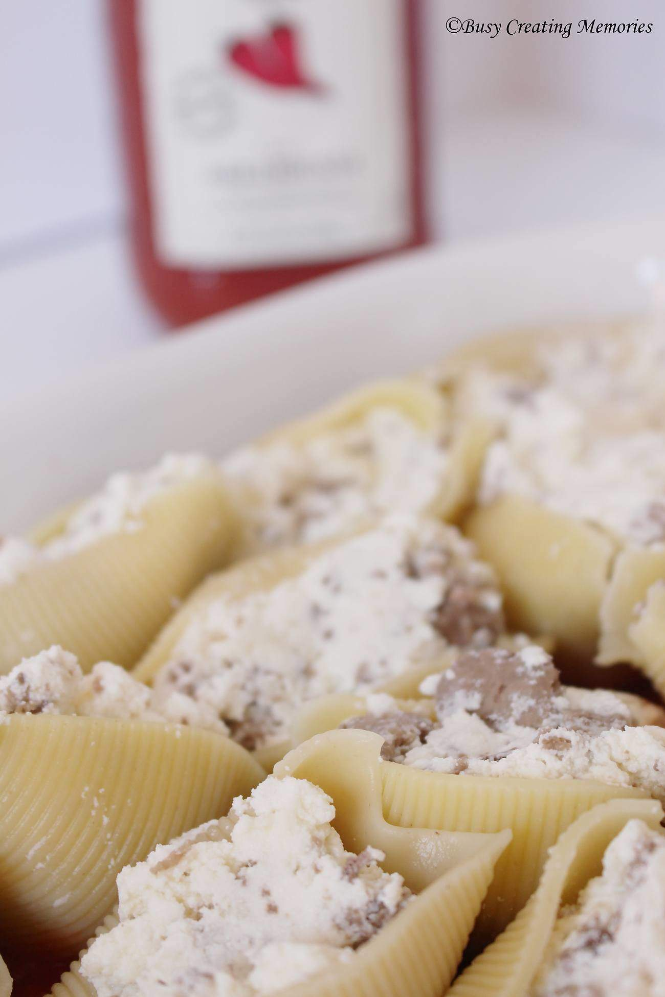 All these stuffed shells need is a little sauce and dinner is ready!