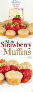 Extra Moist Mini Cinnamon Strawberry Muffins