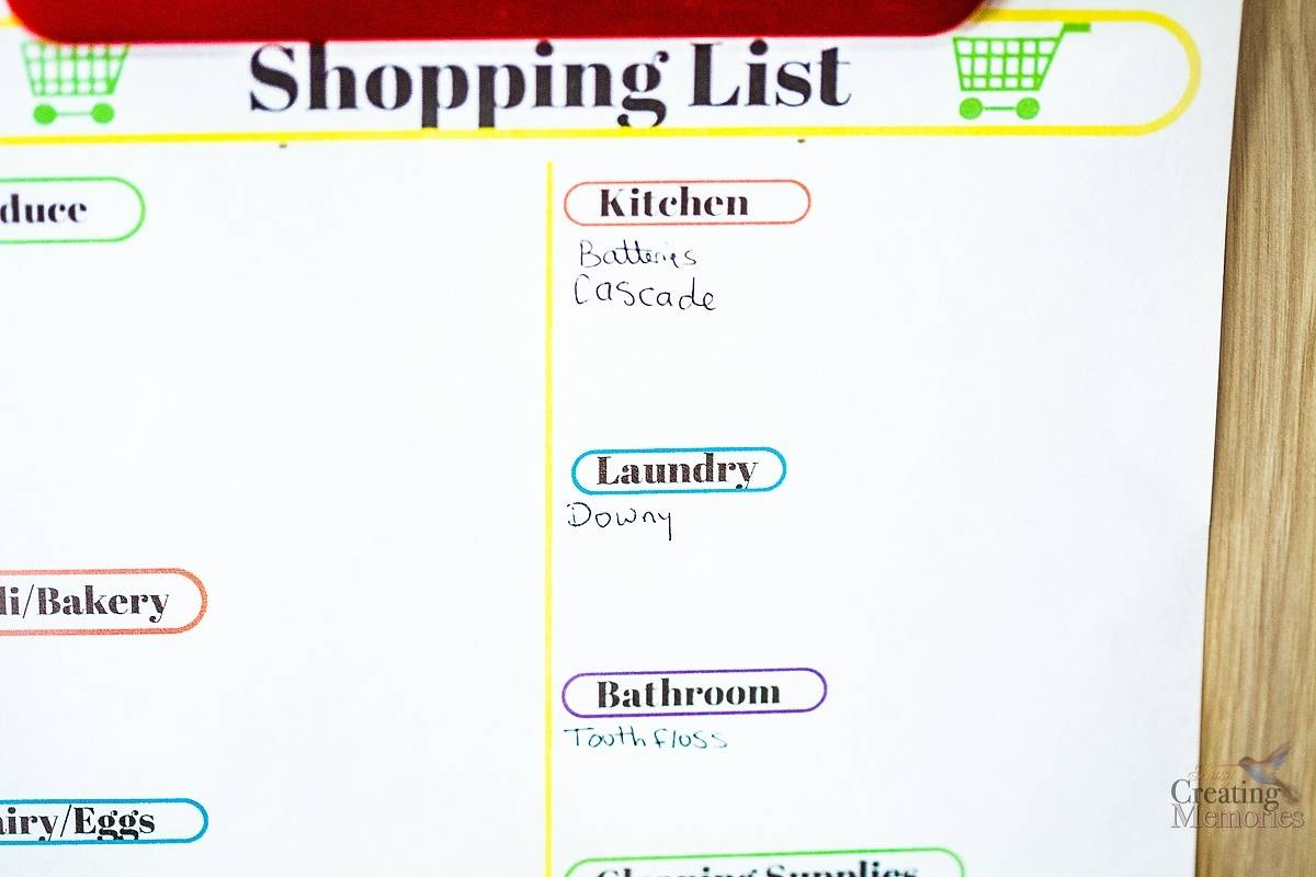 Printable Shopping List to Avoid the oops of forgotten items
