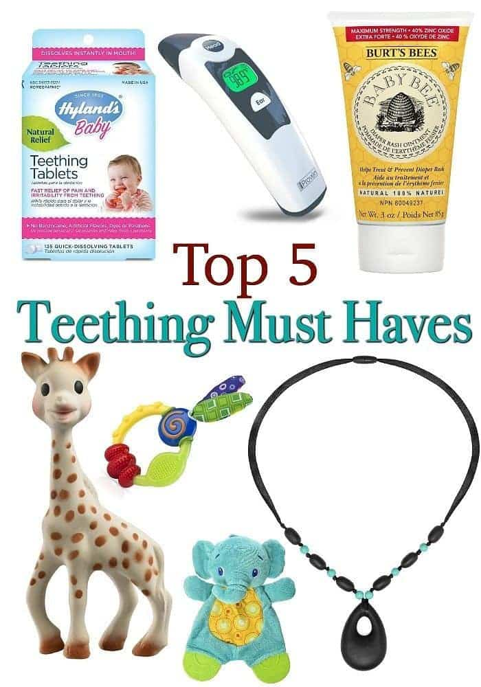 Teething is never a fun experience. But if you have these 5 Teething Must Haves you will be able to minimize the discomfort for baby and save Mom's Sanity!