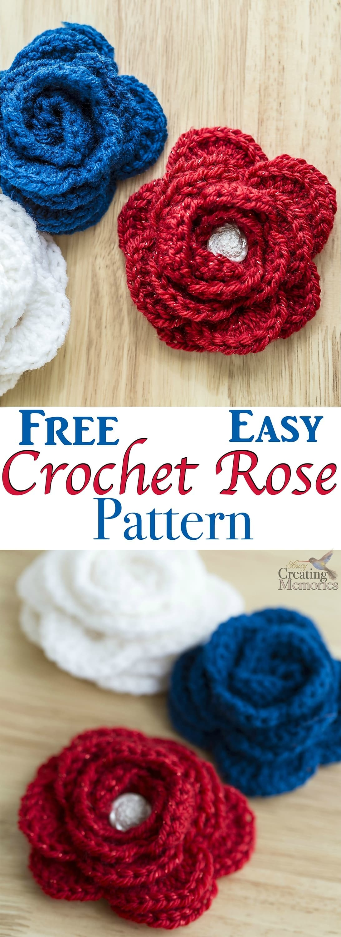 This free easy crochet rose pattern is the perfect project for beginner crochet with beautiful results. They are the perfect embellishment for a crochet hat or crochet headband, Brooch bag pin or home decor. Included is a left-handed crochet video tutorial