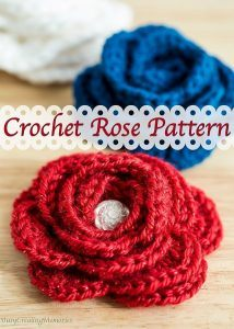 Free Easy Crochet Rose Pattern and Video Tutorial