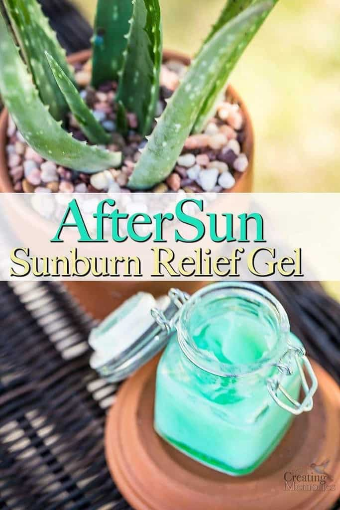Sunburn relief gel