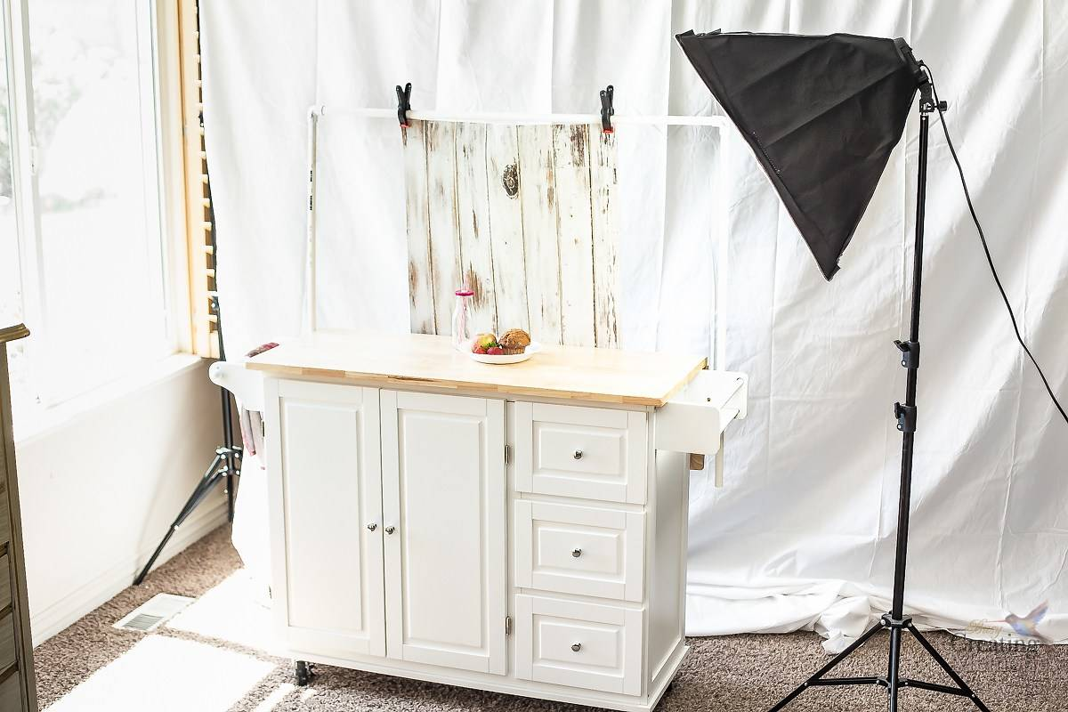 Easy Portable Food Photography Studio Setup