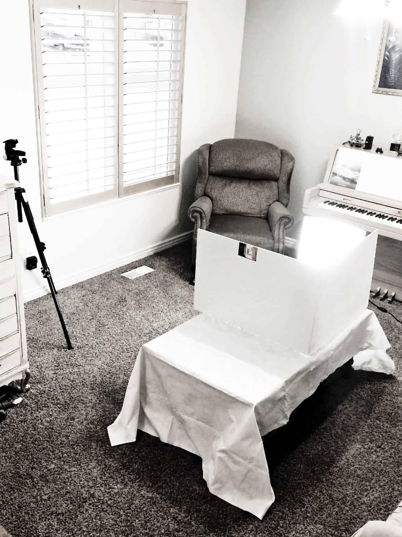 Easy Portable Food Photography Studio Setup