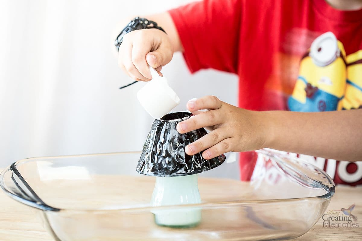 Easy Exploding Volcano Experiment for Back to School