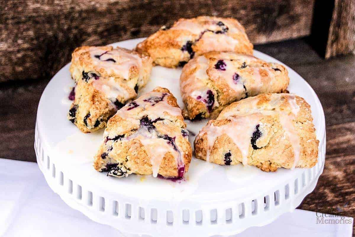 Traditional Mouthwatering Blueberry Lemon Scone Recipe
