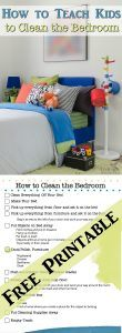 Teach Kids to Have a Clean Bedroom + Bedroom Cleaning Printable