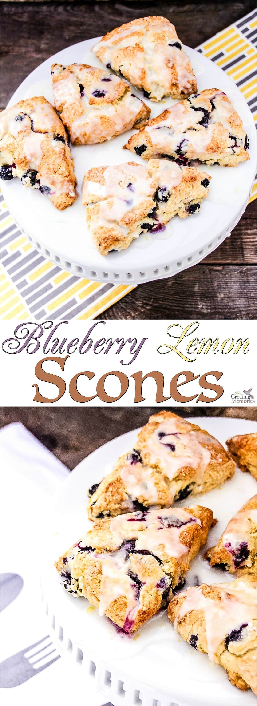 Experience perfection in a bite! Try this easy to follow Blueberry Lemon Scone Recipe! A perfect addition to brunch, afternoon tea party or book club party!