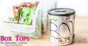 Easy Box Tops for Education Canister