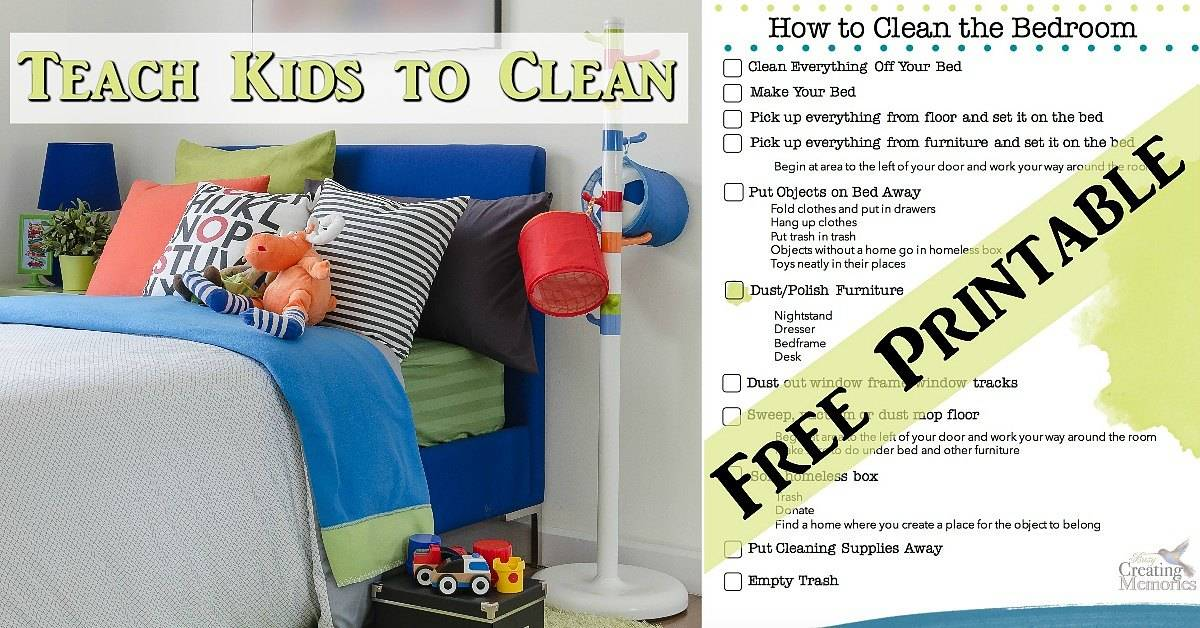 Teach kids to have a clean room bedroom cleaning printable How do you clean your bedroom