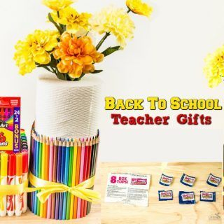 Easy Teacher Gifts + Earn Double Box Tops for Education