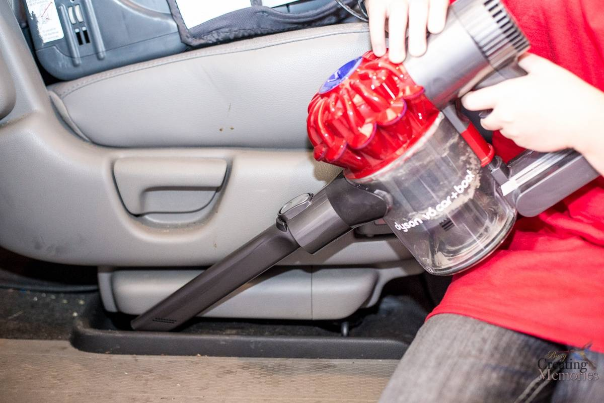 Car Interior Cleaning Made Easy with Dyson V6 cordless vacuum