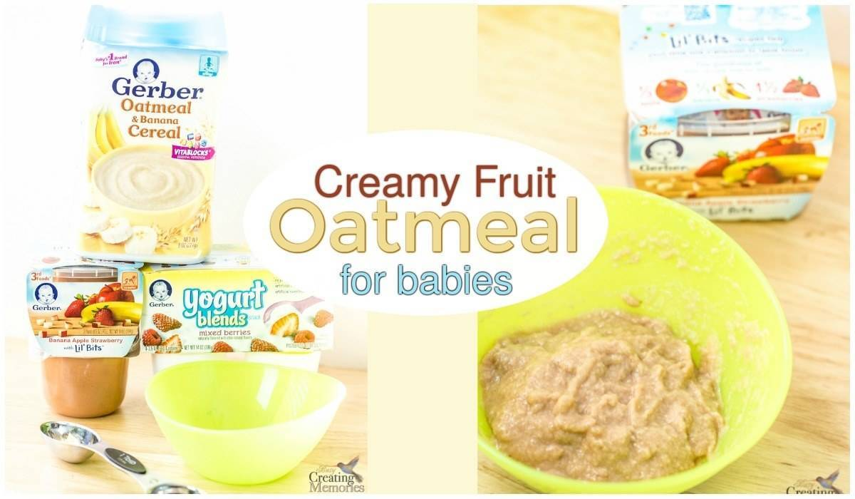 Easy Fruit Oatmeal for babies