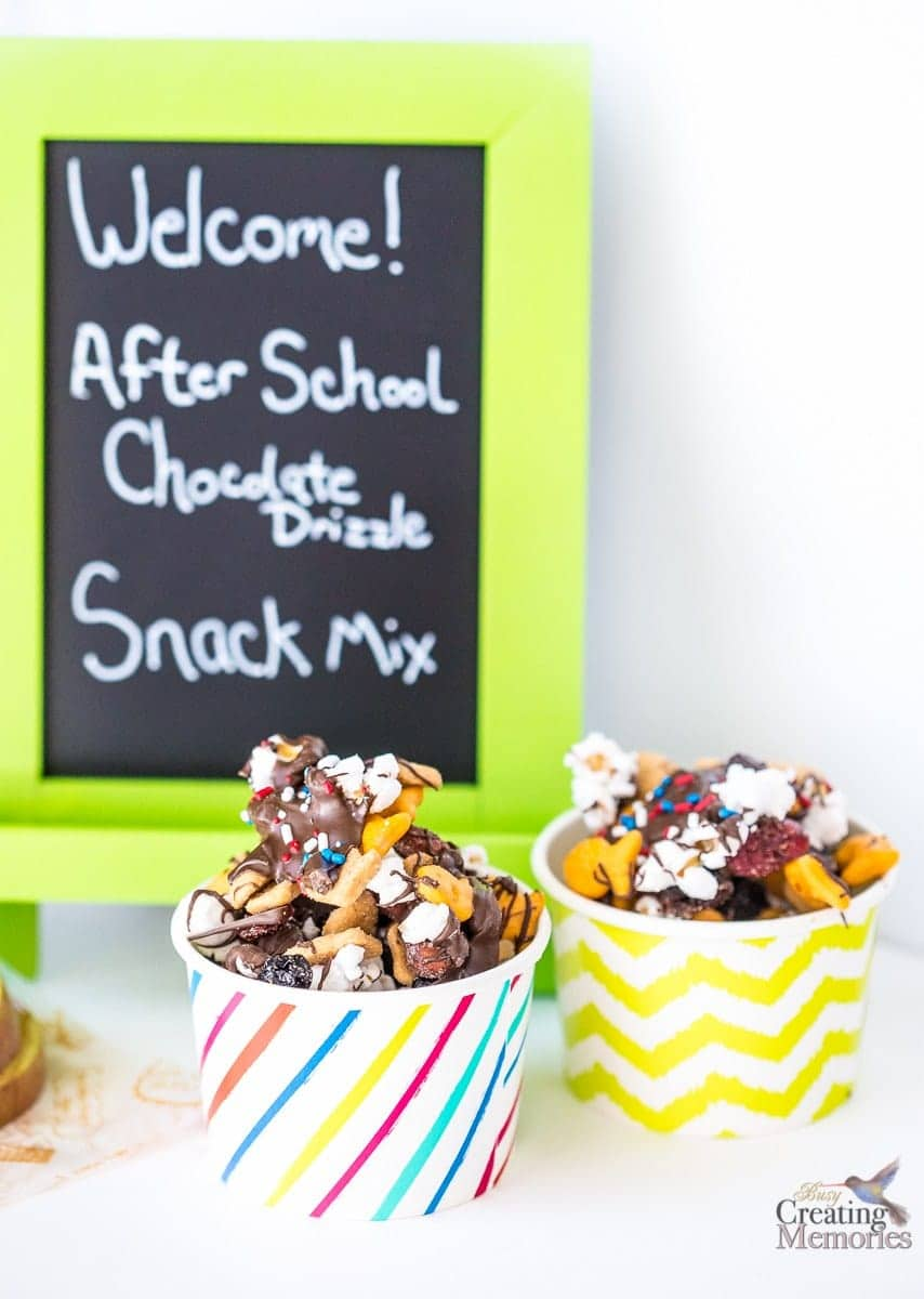 Chocolate Drizzle Snack Mix Recipe