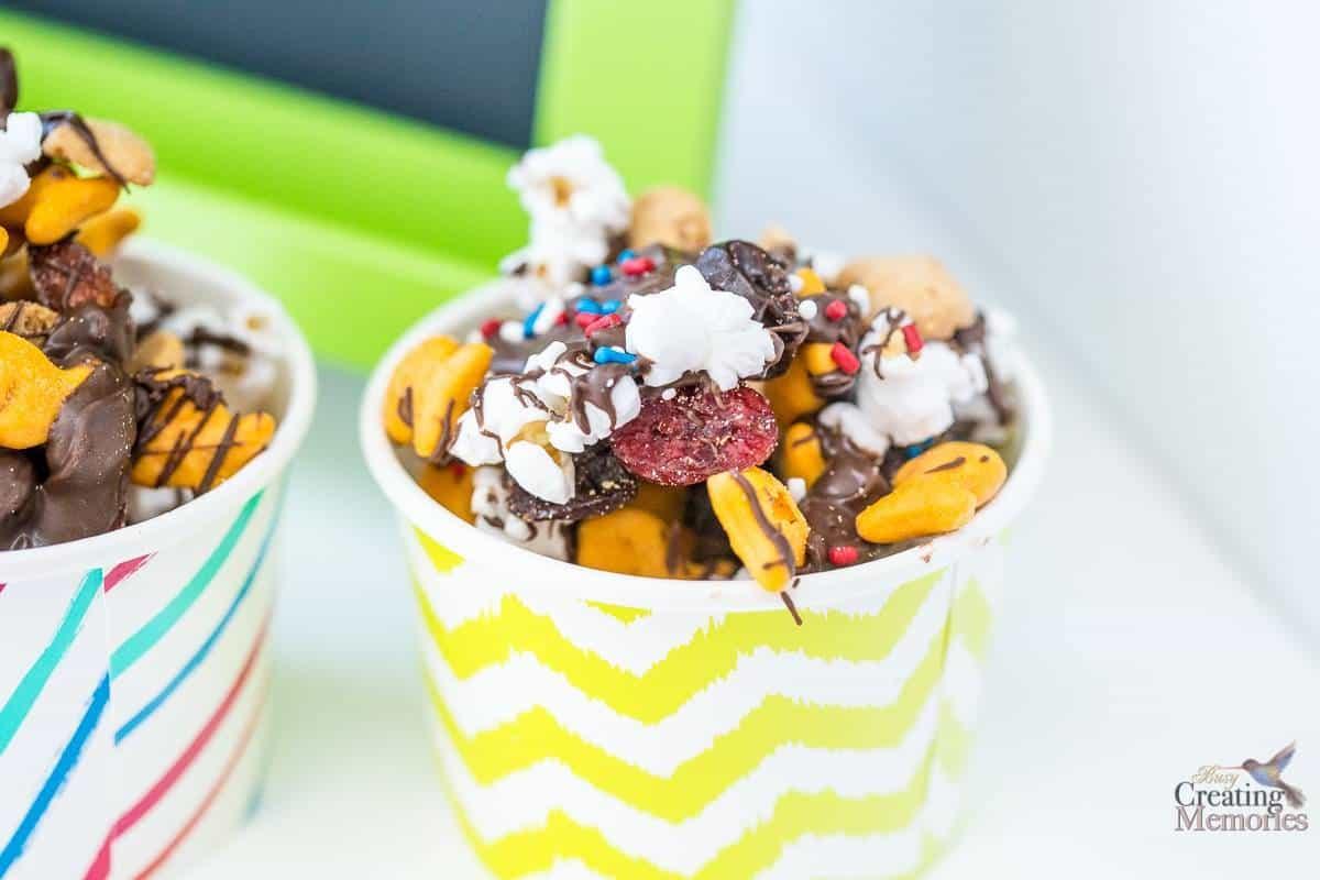 Chocolate Drizzle Snack Mix Recipe