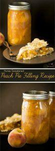 Canned Honey Peach Pie Filling Recipe