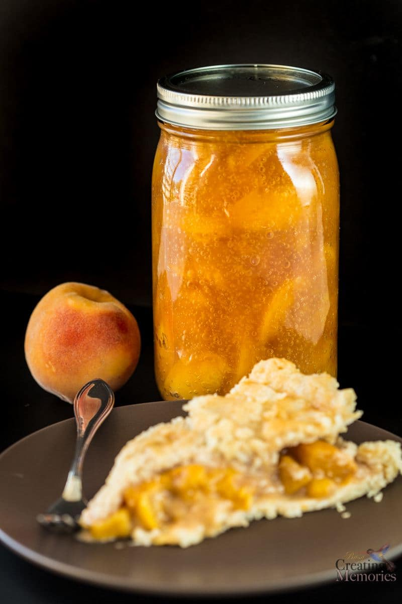 Homemade Canned Peach Pie Filling Recipe with Honey!