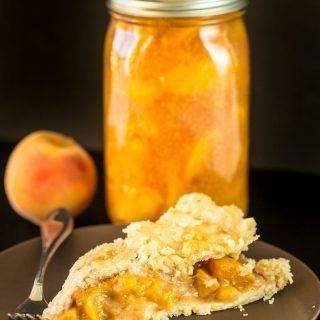 Canned Honey Peach Pie Filling Recipe