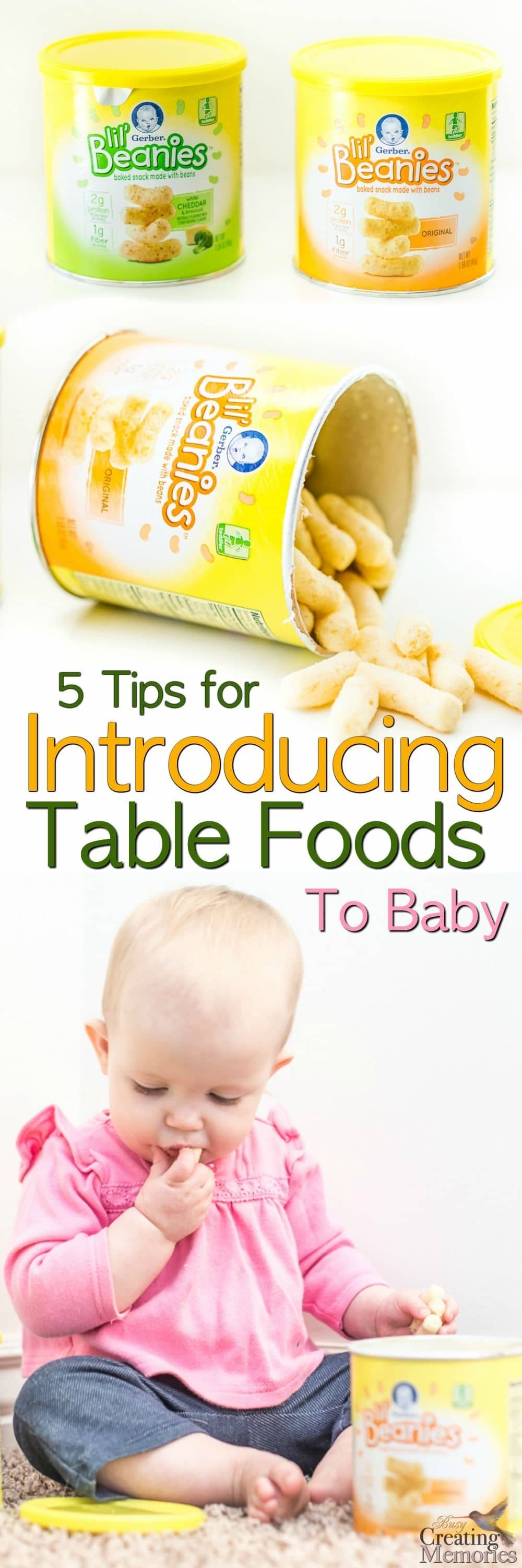 top 5 tips for introducing table foods to baby easily