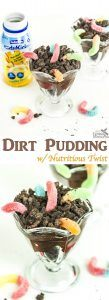 Worms in Dirt Pudding Recipe you can feel good about!