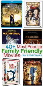 Popular Family Friendly Movies for Family Movie Night