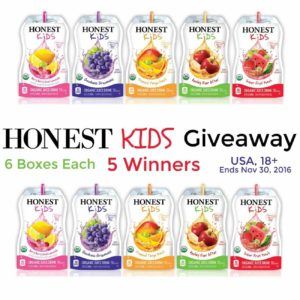 Honest Kids Juice Giveaway